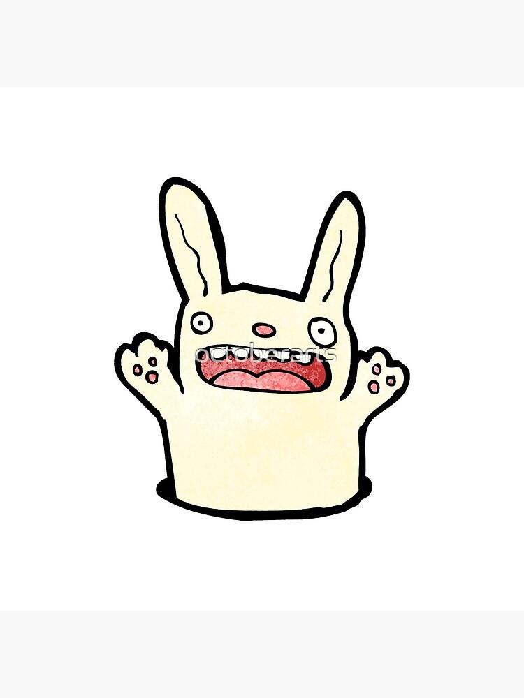 funny cartoon rabbit von octoberarts