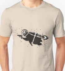 Outer space sloth rocket ray gun Unisex T-Shirt