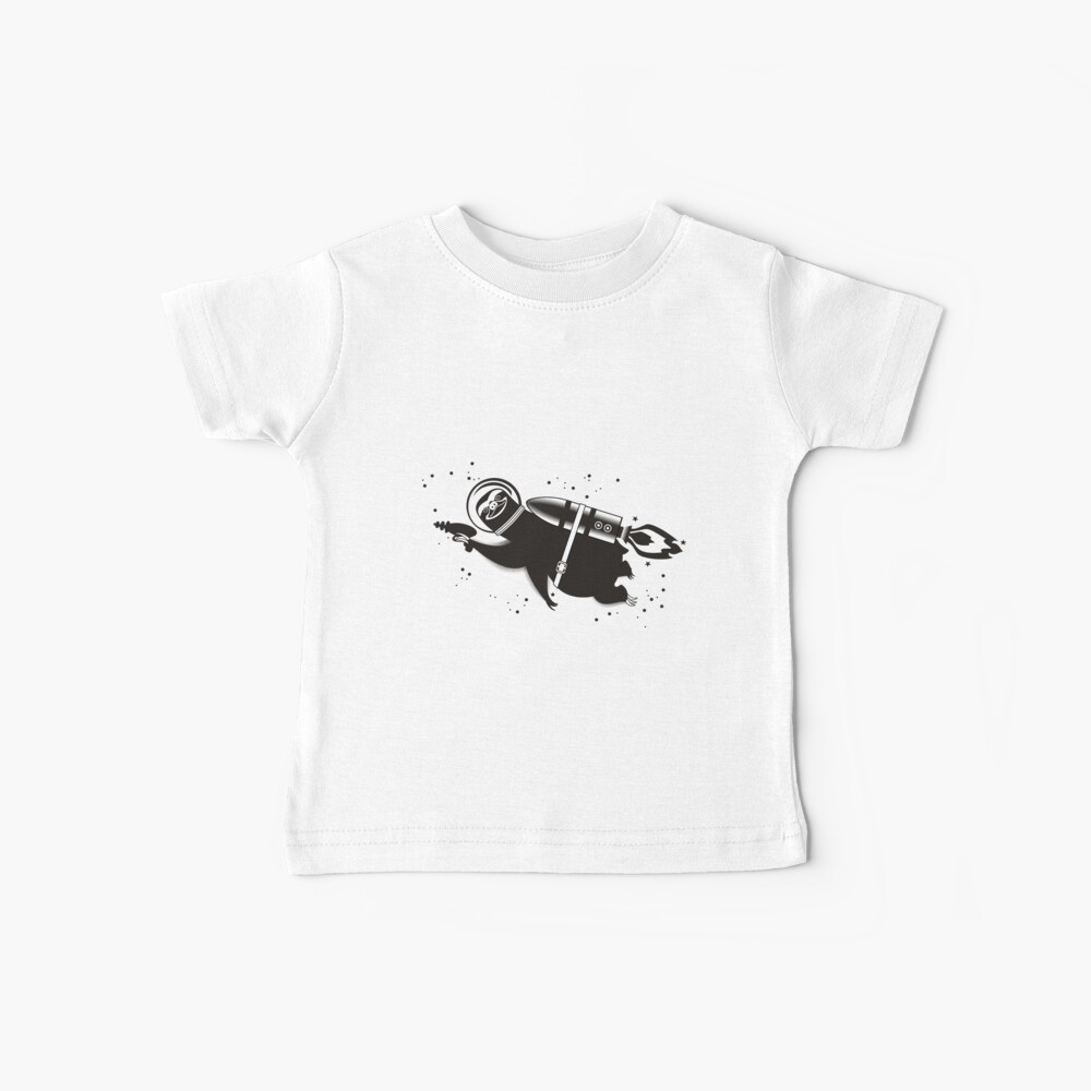 Outer space sloth rocket ray gun Baby T-Shirt