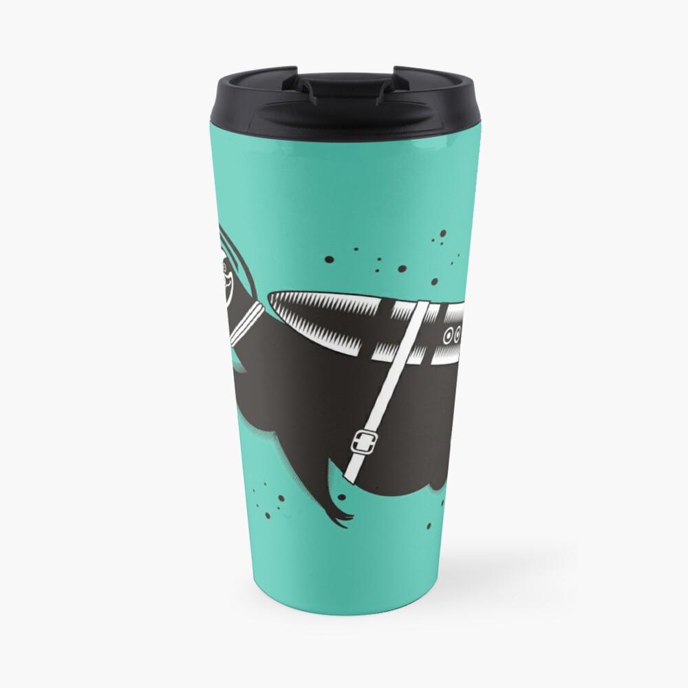 Outer space sloth rocket ray gun Travel Mug