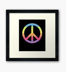 Emoji Colorful Peace Symbol Framed Print