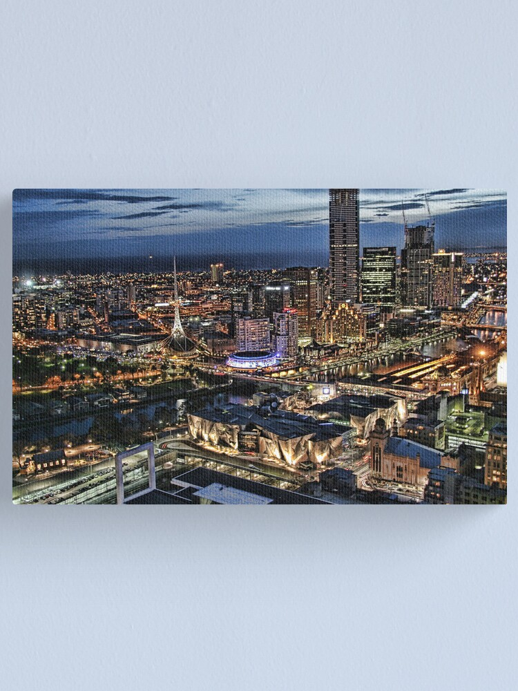 Alternate view of Melbourne Series - Overlooking Southbank Canvas Print
