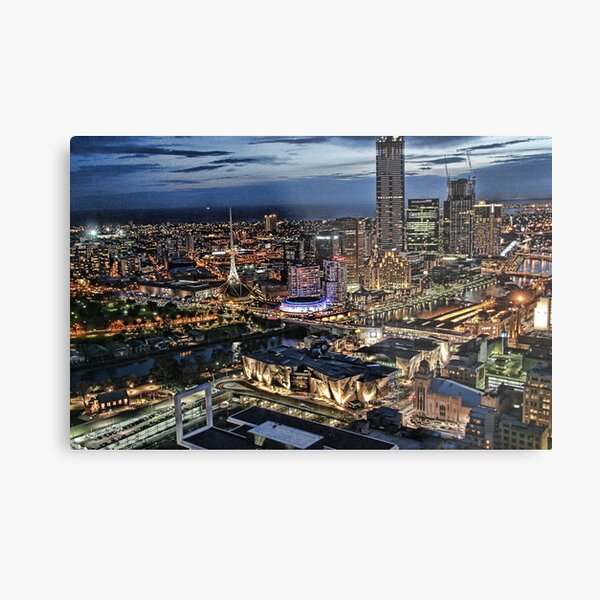 Melbourne Series - Overlooking Southbank Metal Print