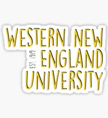 Western New England University Sticker