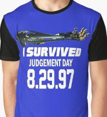 I Survived Judgement Day Terminator white Graphic T-Shirt