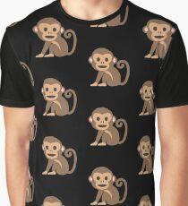 Emoji Happy Monkey Graphic T-Shirt