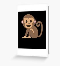 Happy monkey Greeting Card