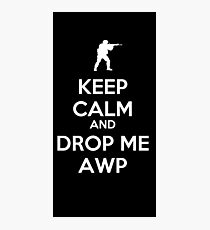 Counter Strike keep calm awp Photographic Print