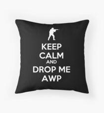 Counter Strike keep calm awp Throw Pillow