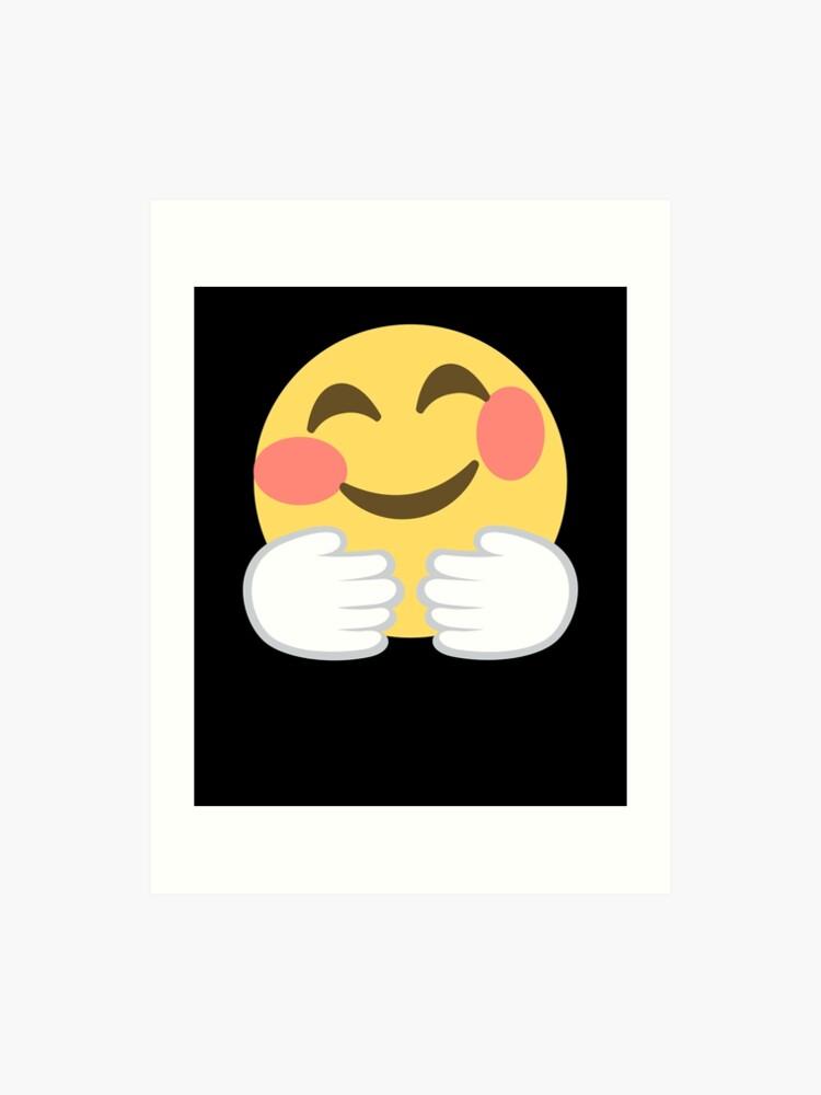 Emoji Hugging Face | Art Print