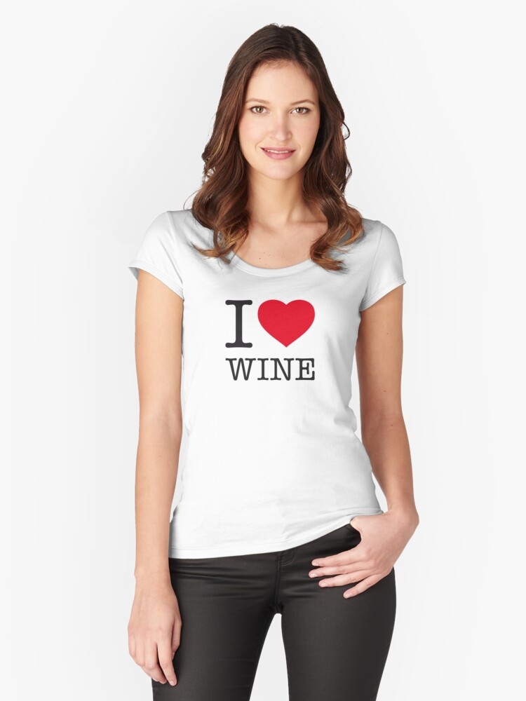 I ♥ WINE Women's Fitted Scoop T-Shirt Front