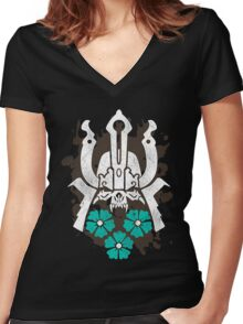 For Honor Samurai Emblem Logo Women's Fitted V-Neck T-Shirt