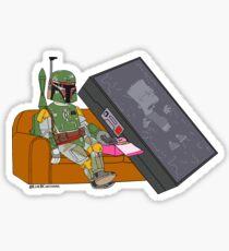 Bounty Hunter on Couch V2 Sticker