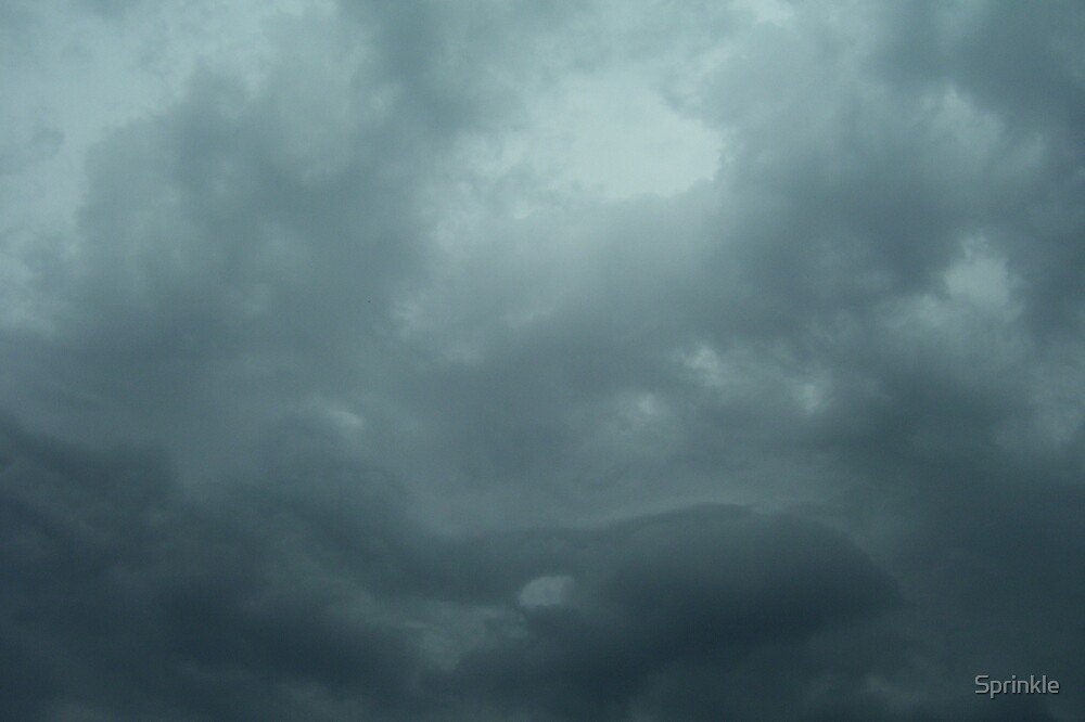 Blue Thunderstorm Clouds by Sprinkle