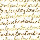 Love Golden Glitter Pattern by valerielongo