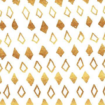 Golden Diamonds Pattern by valerielongo