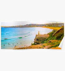 Trig Point Curl Curl Beach Poster