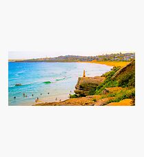 Trig Point Curl Curl Beach Photographic Print