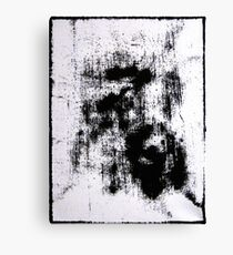 Edgy Ink blot Black and White Canvas Print