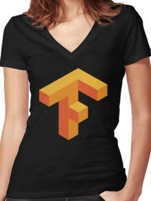 tensorflow Women's Fitted V-Neck T-Shirt