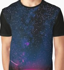 Stars and Space Night Sky - Electric Starry Milky Way in Arizona Graphic T-Shirt
