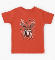 Deer Unicorn Flowers Kids Tee