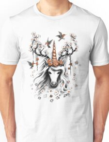 Deer Unicorn Flowers Unisex T-Shirt