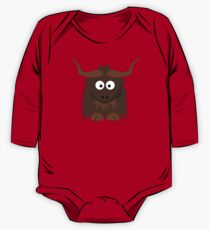 Funny Cute Cartoon Buffalo Character Animal - T Shirts And Gifts Design One Piece - Long Sleeve