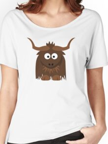 Funny Cute Cartoon Buffalo Character Animal - T Shirts And Gifts Design Women's Relaxed Fit T-Shirt