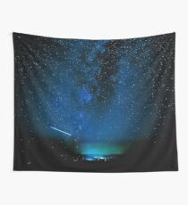 Stars and Space Night Sky - Blue Starry Milky Way in Arizona Wall Tapestry
