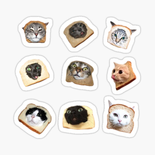 Bread Kitties Sticker
