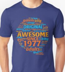 Vintage Aged Perfection Years 1977 40 th Tshirt T-Shirt