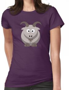 Cute Funny Cartoon Goat Character Doodle  Drawing T Shirts And Gifts Womens Fitted T-Shirt