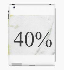 Forty Percent iPad Case/Skin