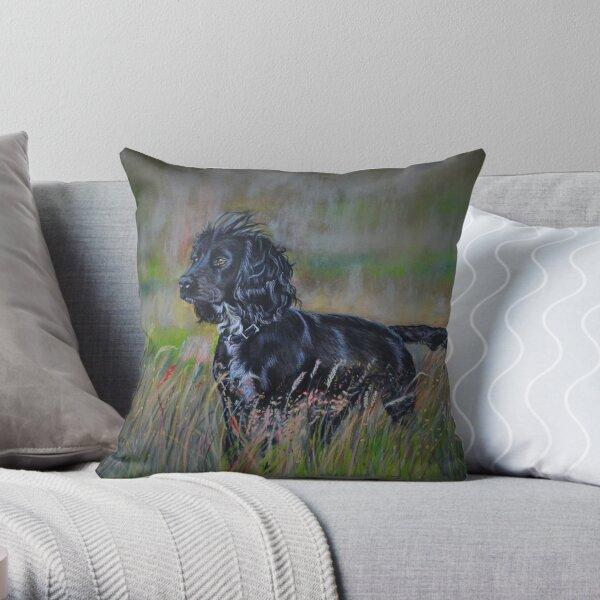 Working Cocker marking Throw Pillow