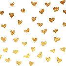 Golden Hearts Pattern by valerielongo