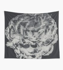 Floral Flower Art - Retro Rose Black and White Vintage Flowers Wall Tapestry