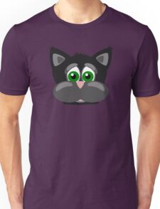 Cool Funny Cartoon Cat - Silly Black Kitten With Green Eyes T Shirts And Gifts Unisex T-Shirt