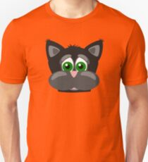 Cool Funny Cartoon Cat - Silly Black Kitten With Green Eyes T Shirts And Gifts T-Shirt