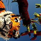 Tiger, Jersey Battle of flowers by Alan Lagadu