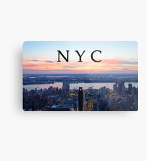 Sunset from the Empire State Building Metal Print