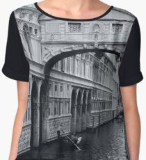 The Bridge of Sighs in Venice Italy Travel Water Architecture Landscape Chiffon Top