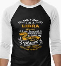 I am a libra woman i was born with my heart T-Shirt