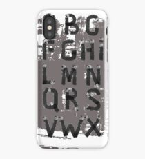 Grunge Alphabet. Hand drawn font. iPhone Case/Skin