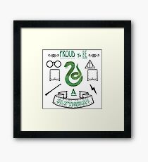 Proud to be a Slytherin Framed Print