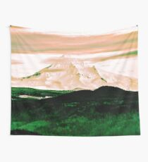 Mountain and Forest - Mt. Hood Green Trees and Mountains Wall Tapestry