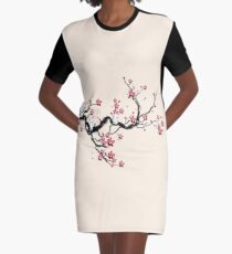 Kodama on a cherry tree Graphic T-Shirt Dress