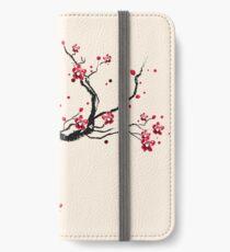 Kodama on a cherry tree iPhone Wallet/Case/Skin