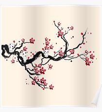 Kodama on a cherry tree Poster