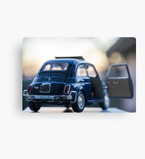 Fiat 500L scale model Metal Print